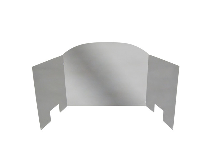Real Fyre Tri-Fold Traditional Stainless Steel Fireback