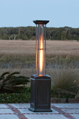 Mocha Finish Square Flame Heater