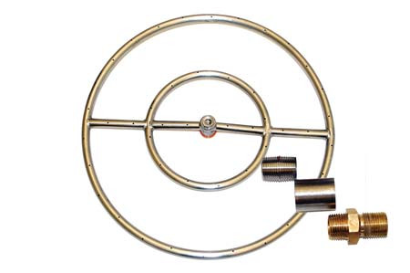 24-in Stainless Ring Fire Pit Kit