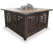 Square Gas Firepit Slate Marble Table Top