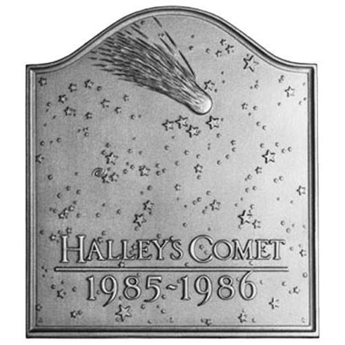 Halleys Comet Furnace Cast Iron Fireback