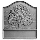 Large Oak Furnace Cast Iron Fireback