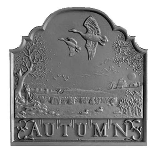 Autumn Victorian Hearth Cast Iron Fireback
