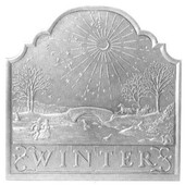 Winter Victorian Hearth Cast Iron Fireback