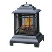 贝尔蒙大型黑色木材燃烧的消防站