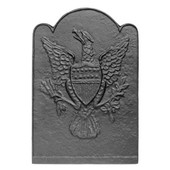 Eagle & Shield Patriot Cast Iron Fireback