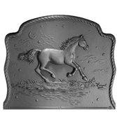 Night Horse Victorian Hearth Fireback
