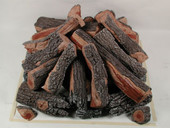 Firepit Logs | 36-inch | 33-Piece | Square Stack | Bark/Split