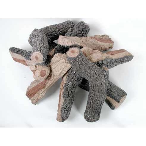 "Rasmussen 48"" Firepit Logs Bark/Split, Round Stack"