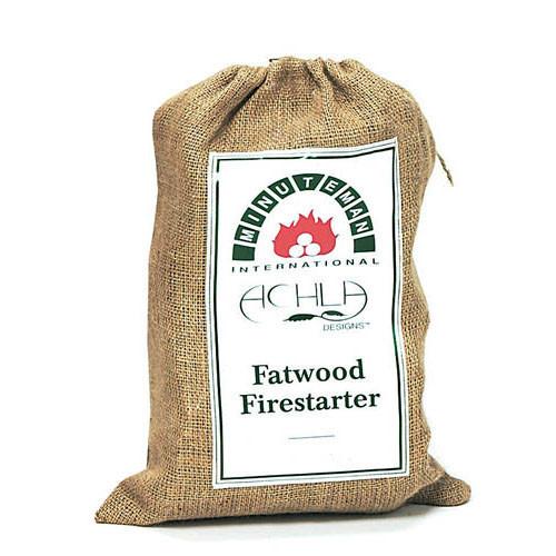 FatWood in Printed Burlap Bag