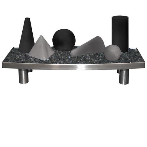 24-in Alterna Black Light Gray FireShapes for CS, CXF Burner