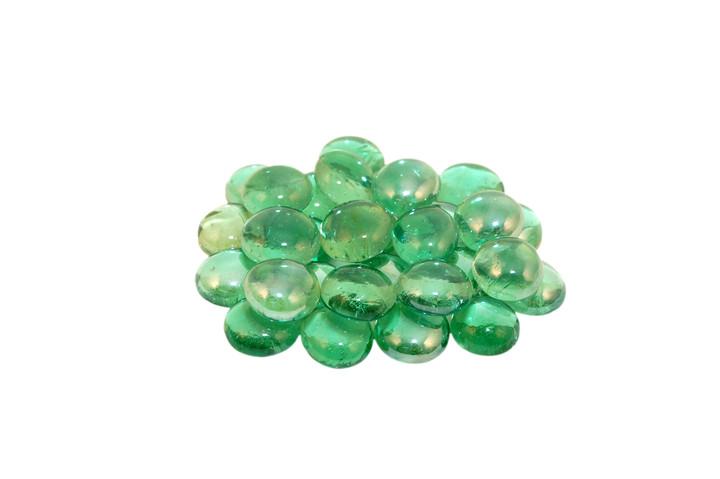 American Fyre 40 lb Bucket Emerald Glass Gems