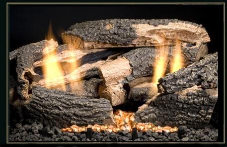 "Golden Blount 30"" Charred Texas Oak Log Set"