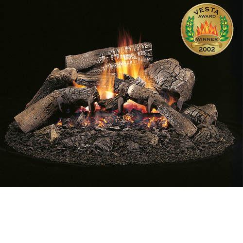 Ceramic Fiber Vented Gas Log/Burner Set