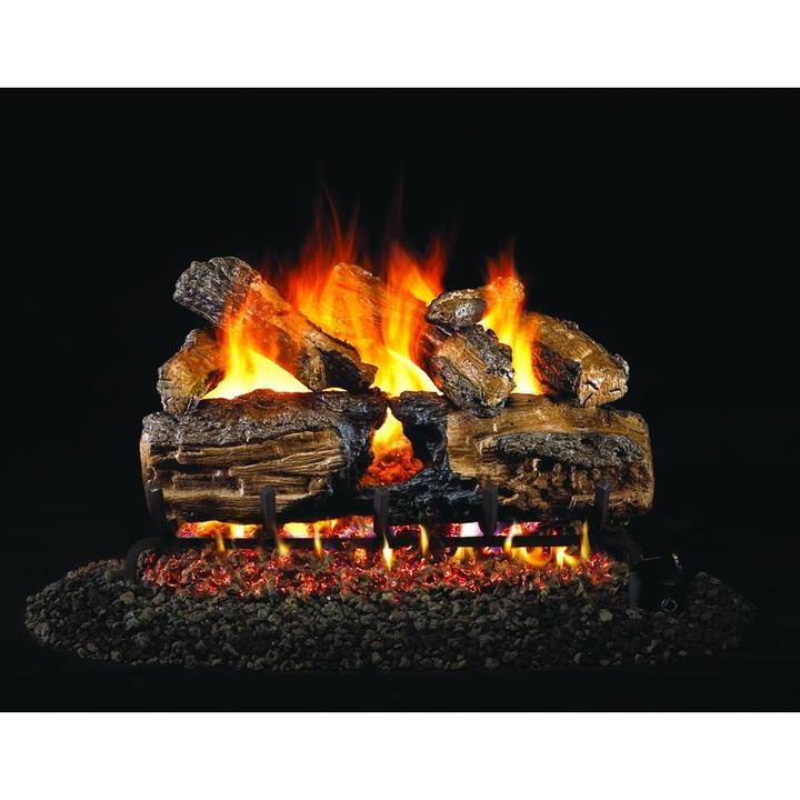 Real Fyre Burnt Split Oak Gas Log Set