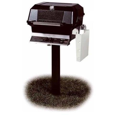 JNR4DD-N-MPP Natural Gas Grill W/ Stainless Steel Grids On In-Ground Post