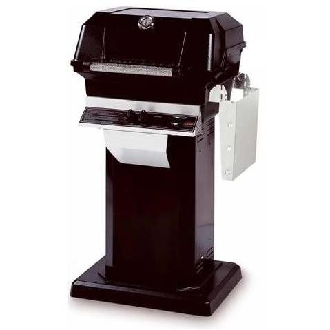 JNR Natural (NG) Gas Grill W/ Stainless Steel Grids On Black Patio Base