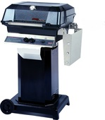 MHP JNR Propane Grill On Black Cart with 2 Wheels,  Stainless Grids