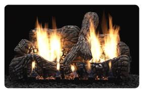 Charred Oak gas log set