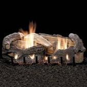 Stacked Age Oak gas log set