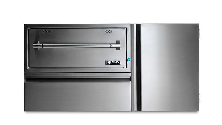 "Lynx 42"" Convenience Center Warming Drawer, Propane LP Tank Storage"