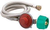 "48"" SS Braided High Pressure Hose, Regulator"