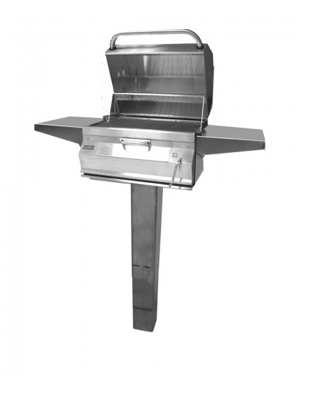 """Firemagic 24"""" Legacy Charcoal Grill on In Ground Post"""