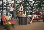 "Outdoor Greatroom 48"" Grand Colonial Dining Table - Chat Height"