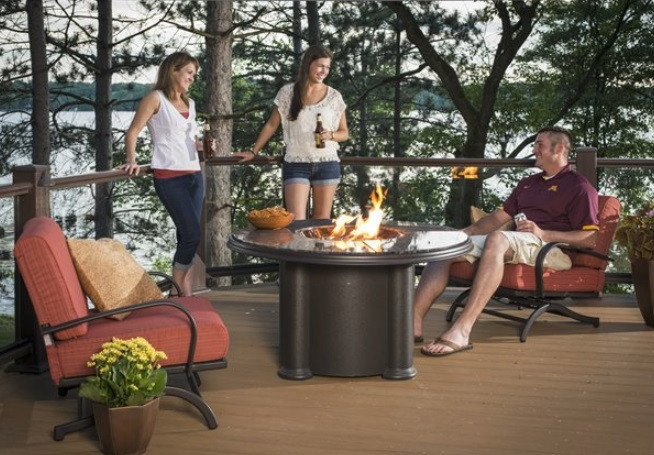 """Outdoor Greatroom 48"""" Grand Colonial Dining Table - Chat Height"""