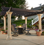 Tuscany Pergola with Wood Beams