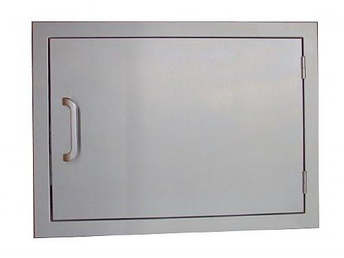 built-in horizontal access door for outdoor kitchens