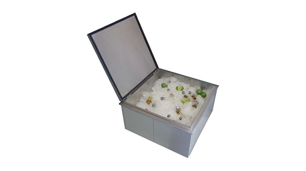 Outdoor Kitchen Insulated Built In Ice Storage Bin 400 1818d