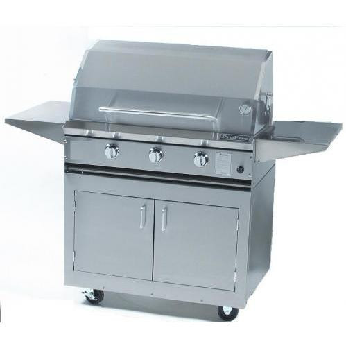 """ProFire 36"""" grill on stainless cart"""