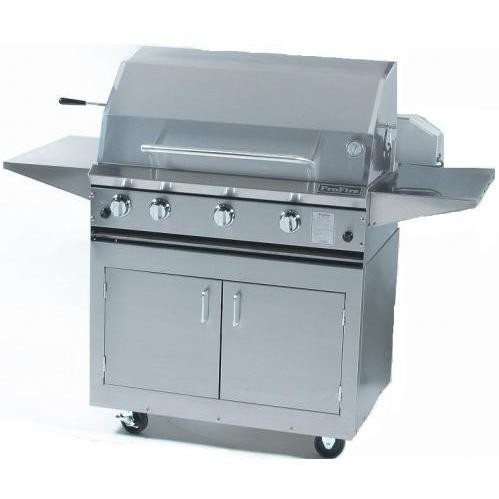 """ProFire 36"""" Hybril Grill on Stainless Cart"""