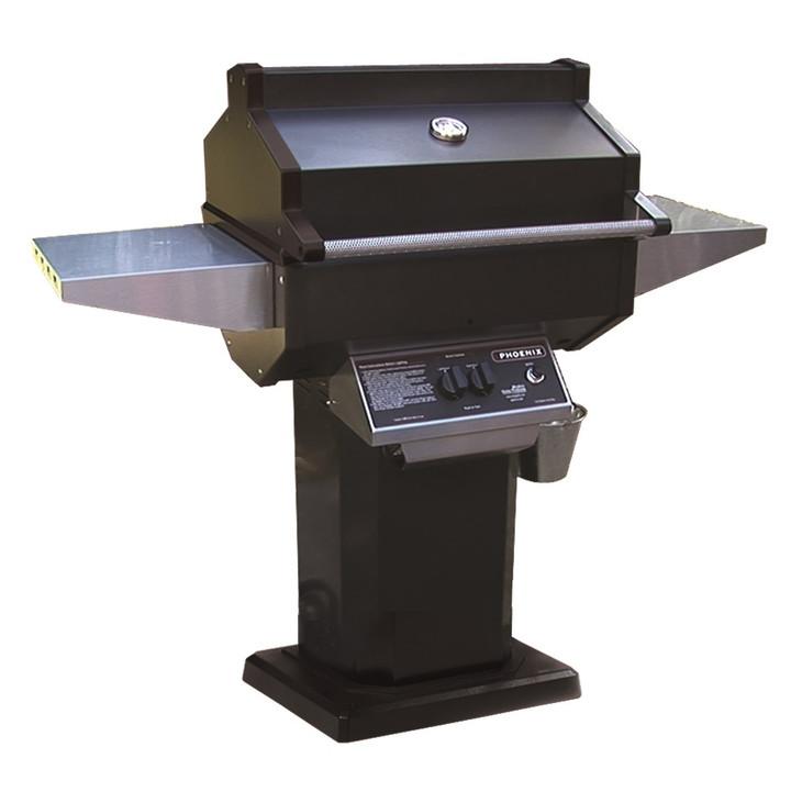 Phoenix Black Propane Grill On Aluminum Deck/Patio Mount