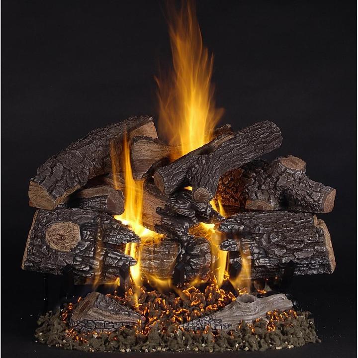 18-in TimberFire Vented Natural Gas Log Set | LC Multi-Burner | Match Light
