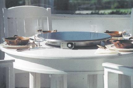 "Cook-N-Dine Portable Stainless Steel 23.5"" Round Teppanyaki"