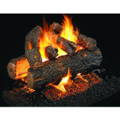 Real Fyre Golden Oak Designer Plus Log Set See-through