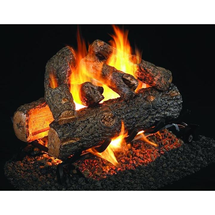 Real Fyre Golden Oak Designer Plus Log Set See-through