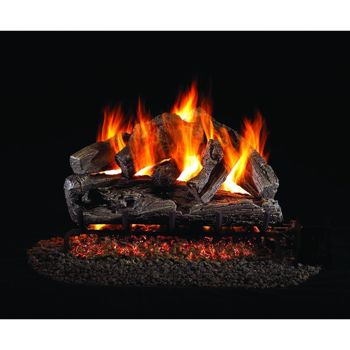 Rugged Oak Vented Gas Log Set
