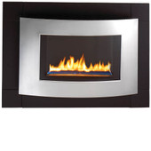 Hearth Sense Stainless Front Face Vent Free Wall Mount Fireplace - RDS