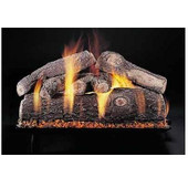 18-in | Frosted Oak | Custom Embers Pan Burner | Match Light