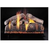 18-in | Frosted Oak | Custom Embers Pan Burner | Match Light