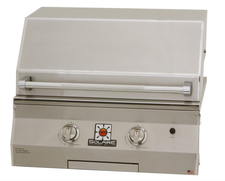 """Solaire 27"""" Basic Built-In Convection Grill"""