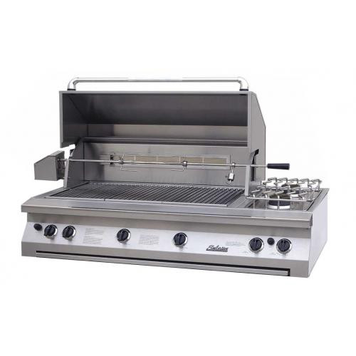 """Solaire 56"""" Convection Built-in Grill, Double Side Burner"""