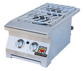 Solaire Cart Mounted Double Side Burner | LP