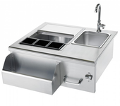 SSBC-L Summerset Professional Stainless Beverage Center w Sink