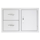 Summerset Built-in 2 Drawer, 1 Door Combo Unit - SSDC2-33