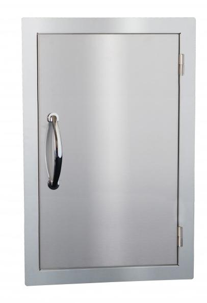 outdoor kitchen built-in storage door