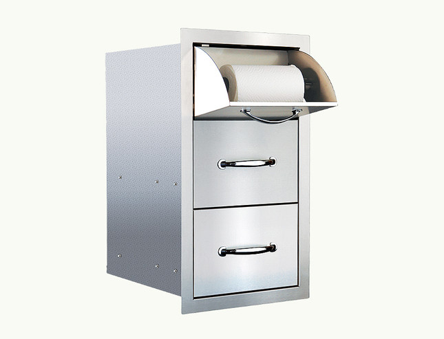summerset paper towel holder w drawers